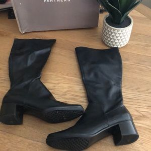 Partners vouge black tall boots Sz 10